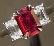 1.08ct Emerald Cut Ruby Ring R7931