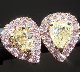 SOLD.....56cts Yellow Pear Shape Diamond Earrings R8200
