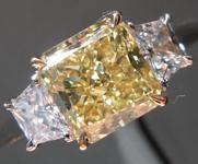 1.81ct Intense Yellow VS1 Radiant Cut Diamond Ring R8207