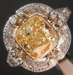 SOLD...2.00ct W-X VS2 Cushion Cut Diamond Ring R8219