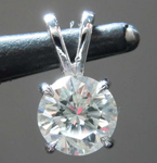 0.74ct J I2 Round Brilliant Diamond Pendant R8231