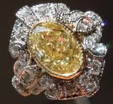 SOLD....2.02ct U-V VS2 Oval Diamond Ring R8234