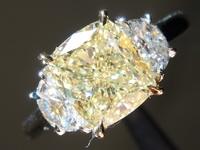 2.17ct W-X SI1 Cushion Cut Diamond Ring R8235