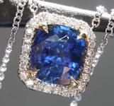 SOLD....1.75ct Blue Cushion Cut Sapphire Pendant R8287