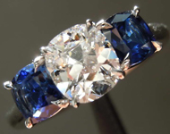 0.83ct D IF Cushion Cut Diamond Ring R8310