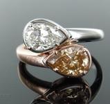SOLD...1.71ctw Diamond Bypass Ring R8316