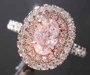 SOLD.....0.70ct Pink I1 Oval Shape Diamond Ring R8416