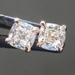 SOLD...0.64ctw H VS1-SI1 Old Mine Brilliant Diamond Earrings R8417