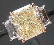 SOLD....2.10ct W-X VVS2 Radiant Cut Diamond Ring R8423