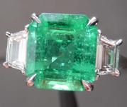 SOLD...2.21ct Emerald Cut Emerald Ring R8454