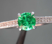 0.46ct Round Mixed Cut Emerald Ring R8458