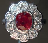 SOLD....1.10ct Cushion Cut Ruby Ring R8555