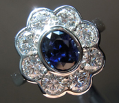 SOLD....1.18ct Blue Oval Sapphire Ring R8591