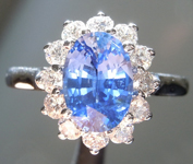 SOLD...1.62ct Blue Oval Shape Sapphire Ring R8598