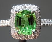 1.60ct Green Cushion Cut Tsavorite Garnet Ring R8615