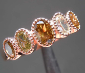 SOLD...1.00ctw Fancy Colored Oval Shape Diamond Ring R8625