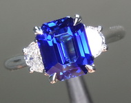 SOLD...2.02ct Blue Emerald Cut Sapphire Ring R8704