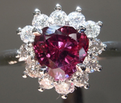 1.25ct Purple Triangular Sapphire Ring R8725