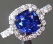 SOLD....2.16ct Blue Cushion Cut Sapphire Ring R8757