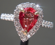0.80ct Pear Mixed Cut Ruby Ring R8788