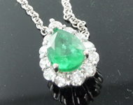 SOLD...1.15ct Pear Shape Emerald Pendant R8847