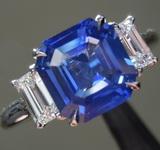 SOLD...2.14ct Blue Asscher Cut Sapphire R9127