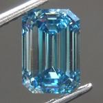 1.01ct Vivid Blue VS2 Emerald Cut Lab Grown Diamond R9347