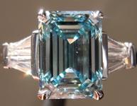 SOLD.....2.71ct Intense Blue VS2 Emerald Cut Lab Grown Diamond R9405