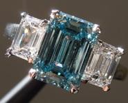 2.01ct Intense Blue SI1 Emerald Cut Lab Grown Diamond Ring R9437