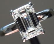 1.52ct I VS1 Emerald Cut Lab Grown Diamond Ring R9452