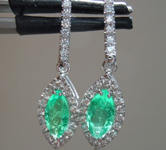 1.17cts Marquise Shape Emerald Earrings R9626