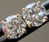 SOLD....1.13ctw D VS Round Brilliant Lab Grown Diamond Earrings R9722
