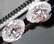 1.66ctw E VS Oval Step Cut Lab Grown Diamond Earrings R9777