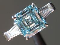 2.01ct Blue VS1 Asscher Cut Lab Grown Diamond R9410