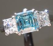 1.32ct Blue VS2 Asscher Cut Lab Grown Diamond Ring R9433