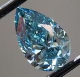 2.00ct Blue I1 Pear Shape Lab Grown Diamond R9543