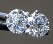 2.08ctw E SI1 Round Brilliant Lab Grown Diamond Earrings R9672