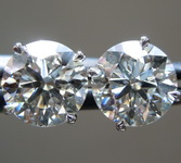 3.59ctw J  SI1 Round Brilliant Lab Grown Diamond Earrings R9698
